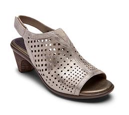 Aravon metallic ankle strap slide