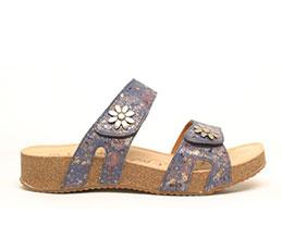Joe Seibel flower sandal